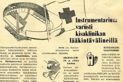 Instrumentarium, lääkintävälineet