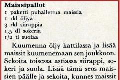 Maissipallot