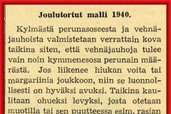 Joulutortut malli 1940