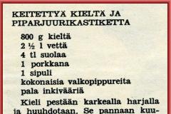 Keitettyä kieltä ja piparjuurikastiketta