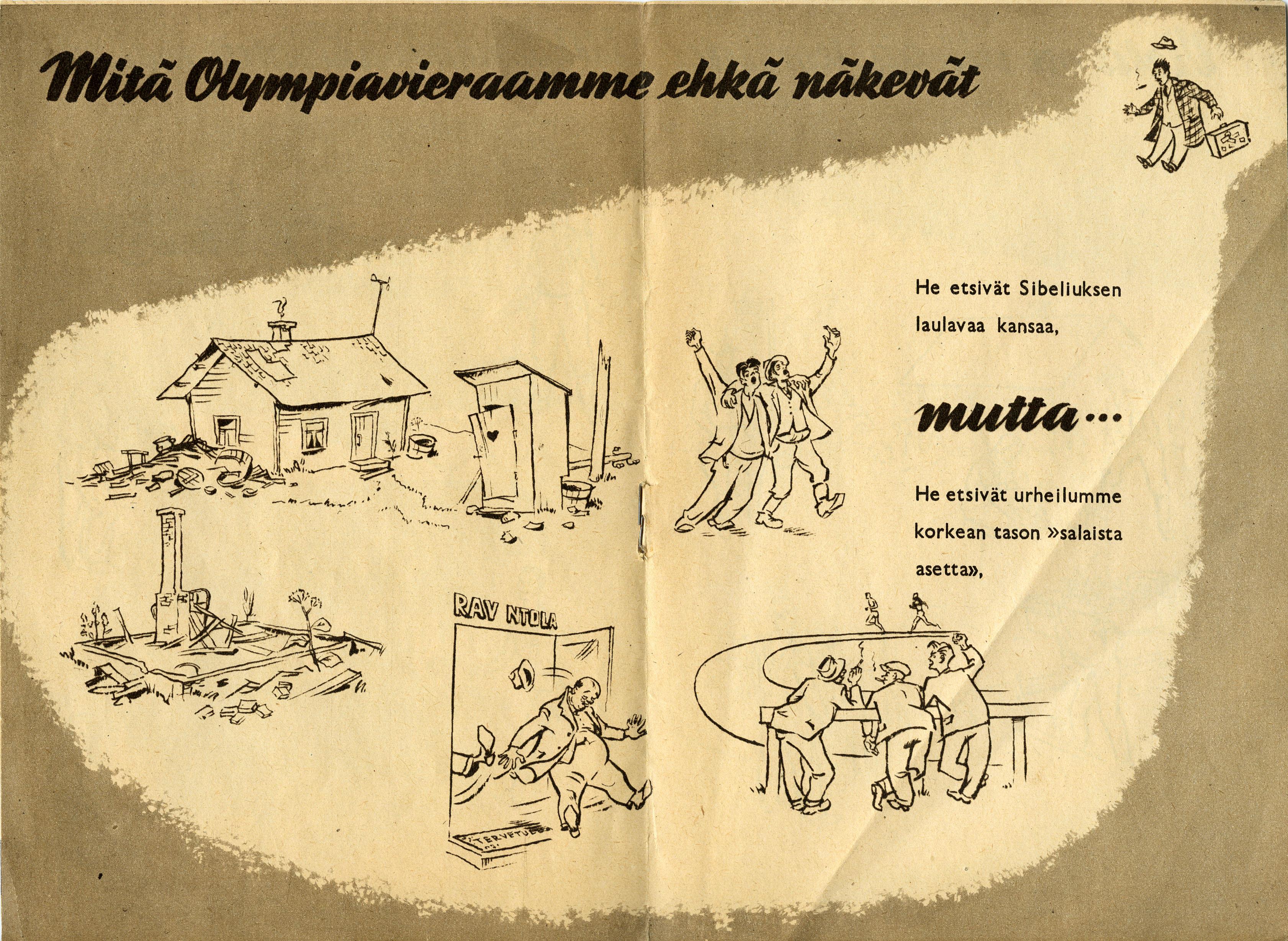 Kansanvalistusta ennen olympialaisia vuonna 1950