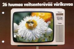 "Finlux 26"" television esite vuodelta 1976."