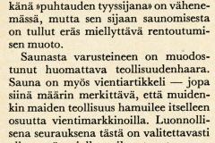 """""""Laatua löylyyn"""", leike Enso-Gutzeitin henkilökunnan lehdestä 1/70. Enso-Gutzeit Oy , keskushallinto"""