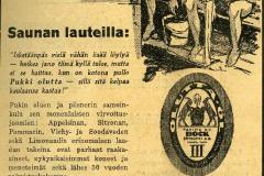 Mainos 1930-luvulta. Mainostoimisto Erva-Latvala.
