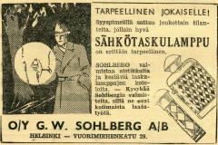 O/Y G. W. Sohlberg A/B v. 1937