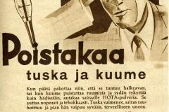 Hota-pulveri 1930-luku
