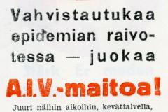 A.I.V. -maitoa v. 1936