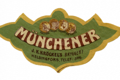 Münchener, J. K. Kröckel's bryggeri. Helsingfors.