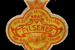 NBAB Pilsener, Nya Bryggeri Aktiebolaget i Åbo (NBAB). Uusi Oluttehdas Osakeyhtiö Turussa.