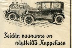 Ford-vaunu näytteillä Kappelissa