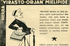 Tähti-oluen mainos v. 1934