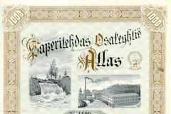Osakekirja, Paperitehdas Osakeyhtiö Atlas