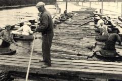 Tukkien erottelua, v. 1953, Pori, Rosenlew Oy