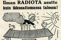 Ilman radiota asutte kuin ikkunattomassa talossa!