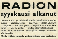 Radion syyskausi on alkanut