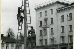 Suurtulipaloharjoitus Lahden tehtailla 1951