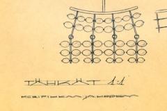 Tähkät-kaulakorun suunnitelmapiirustus