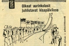 Oikeat aurinkolasit juhlistavat kisapäivänne v. 1958