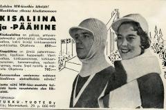 Kisaliina ja -päähine v. 1958