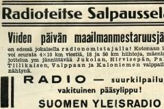 Radioteitse Salpausselälle! v. 1938